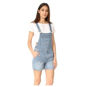 NWT Free People Relaxed Boyfriend Shortalls